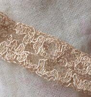 Vintage Lace Trim Silky Lace Ecru Edging Old Fragment Remnants Dolls