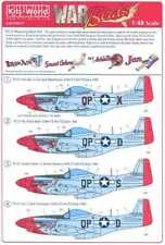 Kits World Decals 1/48 P-51D MUSTANG Fighter 4 NOSE ART VERSIONS