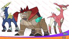Shiny 6IV légendaire Justice Trio TERRAKION Virizion Cobalion Pokemon Sun Moon SM