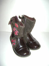 KENNETH COLE REACTION PIP POP TODDLER GIRLS SHOES BOOTS size 9 M BROWN LEATHER