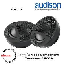 "Audison AV 1.1 - 1""1/8 Voce Component Tweeters 180W"
