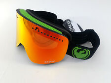 Dragon Alliance NFX Snow Goggles Red Ion with Jet Green / Black Frame