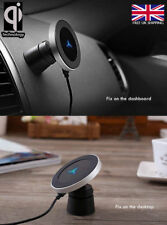 2in1 Qi Magnetic Wireless Car Charger Desktop Samsung S8 Note 8 iPhone X 8 8+ UK