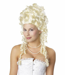 Marie Antoinette Blonde French Colonial Renaissance Baroque Women Costume Wig