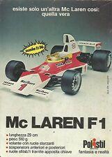 X9323 POLISTIL - Mc Laren F1 - Pubblicità 1976 - Advertising