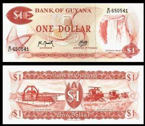 GUYANA 1 DOLLARS 1966-1992 YEAR P 21g(2) UNC