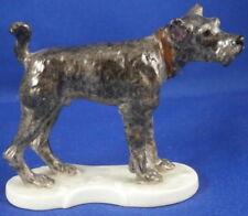 Nymphenburg Porcelain Schnauzer Dog Figurine Figure Porzellan Figur Hund German