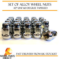 "Set of 20 1/2"" UNF Half Inch Alloy Steel Wheel Lug Nuts 60 Degree Tapered Bolts"