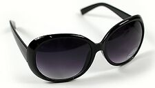 New Ladies Womens Black Large Frame Vintage Retro Oversized Sunglasses UV400