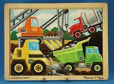 """Melissa & Doug Wood Puzzle #2933 """"Construction Site"""", 12 Pieces, Ages 3+"""