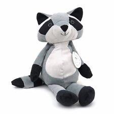 """Folksy Foresters Raccoon Manhattan Toy Corduroy Plush Stuffed 14"""" Grey Black"""