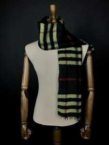 Burberry Check 100% Wool Scarf