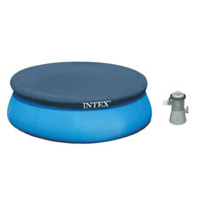 """Intex 8' x 30"""" Easy Set Inflatable Above Ground Swimming Pool w/ Pump & Cover"""