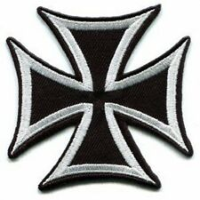 German Iron Cross Embroidered Biker Patch Iron On Sew On