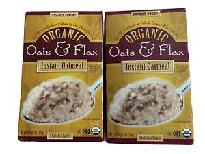 Trader Joe's Organic Oats & Flax Instant Oatmeal (Pack Of 2) 320g Each