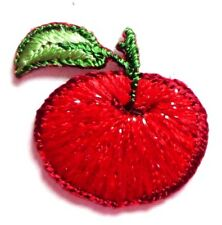 APPLE IRON ON FRUIT APPLIQUE PATCH  3/4 X 1 inch