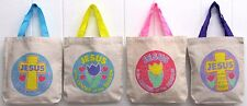 "Jesus is the Center of the Season Religious Canvas Tote 8"" Bag VBS (Pack of 12)"