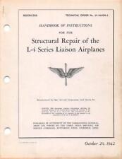 1942 AAF L-4 SERIES PIPER CUB LIAISON STRUCTURE REPAIR FLIGHT MANUAL HANDBOOK-CD