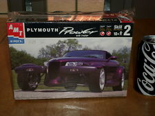 PLYMOUTH PROWLER CAR with TRAILER, Plastic Model Car Kit, Scale 1/25