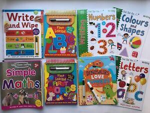 Nursery Wipe Clean Home Learning Workbooks Pre School Age 2|3|4|5|6 with pen