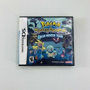 Nintendo DS Pokemon Mystery Dungeon Blue Rescue Team 2006 Case And Manual ONLY