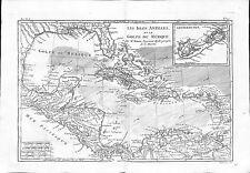 Antique maps, Les isles Antilles et le Golfe du Mexique