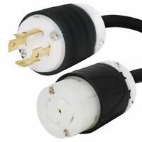 15A//250V IEC C14 to NEMA L6-30R Plug Adapter 14 AWG 1 Foot Iron Box # IBX-2553-01M