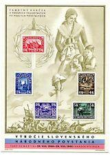 CZECHOSLOVAKIA 1945 SLOVAK NATIONAL UPRISING PERFECT MNH SHEET UNDERVALUED