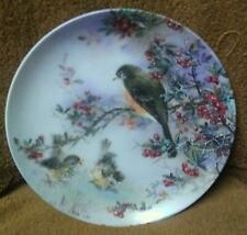Lena Liu Plate Delicate Accord Nature's Poetry Series Birds 1991 w/Coa
