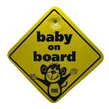 BABY ON BOARD Suction Cups Windscreen Window Body Panel Car Sign BNIP