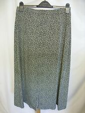 "Ladies Skirt Viyella khaki floral, UK 14 but waist 30"", long, lined summery 1898"