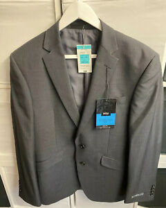 NWT RRP: £80 Marks & Spencer Slim Fit Size 40 Charcoal Pinstripe Suit Jacket