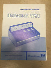 Original Wollensak Owner Manual for the 4780 Cassette Recorder  Schematic