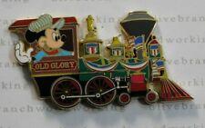 Disney Shopping.com MICKEY MEMORIAL DAY Old Glory Railroad Train USA Flag Pin LE