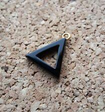 Onyx Dreieck Anhänger Edelstein Onix Anhänger 1,7 cm