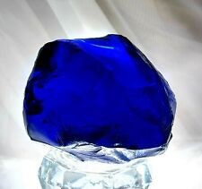 Colbalt blue Slag Glass Rock crystal ball seer Stone magical witches Halloween