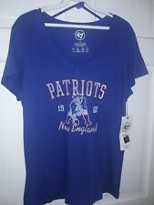New England Patriots Women's NFL '47 brand football T-Shirt Pats  ~ Ladies L