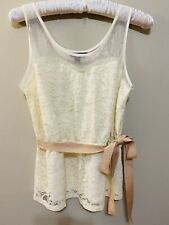 American Eagle Cream Lace Tank Top Blouse  S/P
