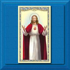Catholic Holy Prayer Card ✝️ Our Lord Jesus Christ Sacred Heart Anima Christi