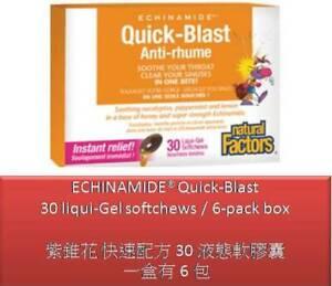 6-pack box (30 liqui-Gel softchews) Echinamide Quick-Blast - Natural Factors