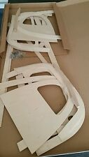 E type roadster seat wood set  series 1 and 2