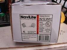 New listing Juno Lighting N1Lwh Navilite Universal Mount Square Head Emergency Light Led