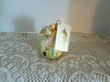 """Patricia Breen Bee Skep ornament with miniature Bee and Tags approx 3 """""""
