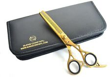 """6"""" Professional Hairdressing Thinning Barber Hair Cutting Gold Thinning Scissors"""