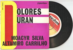 DOLORES DURAN Fim de Caso / Solidão 7/45 EP BRAZIL SAMBA jazz Moacyr Silva EX