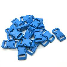 "10 50 100pcs 3/8"" 10mm Curved Side Release Plastic Buckle for Paracord Bracelet"