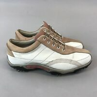 Footjoy Contour IV Multi Coloured Leather Lace Up Golf Shoes 39 UK6
