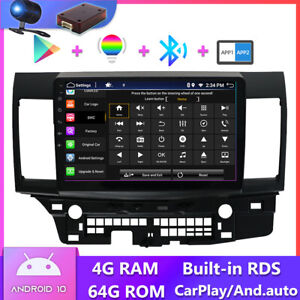 Android 10 Car Stereo For Mitsubishi Lancer EVO X GPS Navigation Head Unit DAB+