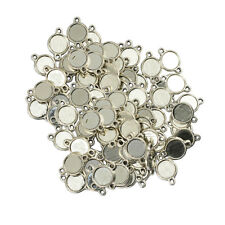 100x Double Sided Cameo Cabochon Setting Blanks Tray Base Pendants 10mm