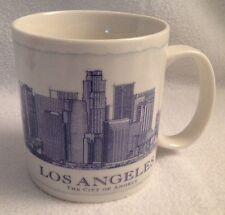STARBUCKS Architect Series City Mug LOS ANGELES 18 oz Off White Blue 2007 Coffee